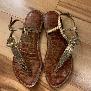 Sam Edelman Gold Sandals